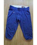 Nike Team Football Pants Mesh Sided New BLUE Size L  - $23.76
