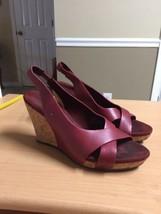 UGG  Wedge Sandal - Women size 8 RED style 1924 Slingback peep toe - ₹993.49 INR