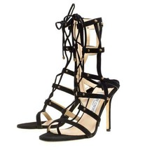 "Stunning New Jimmy Choo Black Suede Gladiator $1,195 ""Meddle"" Caged Sandals - $795.00"