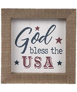 God Bless The USA Wood Wall Decoration Home Decor 4th of July - $17.99