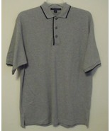 Mens Port Authority NWOT Gray Black Trim Short Sleeve Polo Shirt Size Large - $15.95