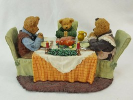 BOYDS BEARSTONE  The Bearsleys...Family Traditions Thanksgiving  #227818... - $32.00