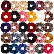 Chanaco 30 Pack Velvet Hair Scrunchies Colorful Velvet Hair Ties Scrunch... - $12.76