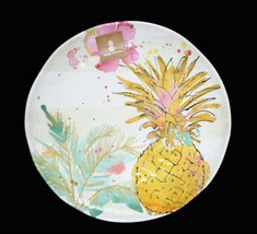 "4 Outdoor Collection Tropical Pineapple Hvy Duty 11"" Melamine Dinner Plates NWT - $49.99"