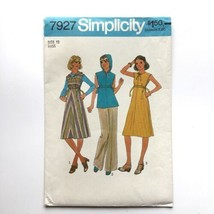Vintage Simplicity 7927 Hoodie Dress Tunic or Shirt Misses 12 Uncut Patt... - $8.75