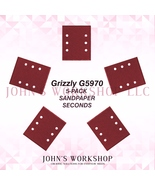 Grizzly G5970 1/4 Sheet 5-Pack Sandpaper Blowout! 17 Grits! Free Ship! - $5.38