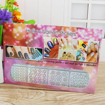 BAHYHAQ- 24Sheets Nail Hollow Irregular Grid Reusable Manicure Stickers ... - $6.11