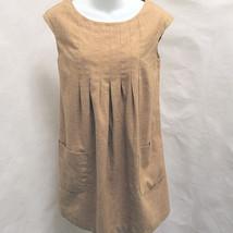 H&M 6 Shift Dress Brown Pockets Sleeveless - $19.58