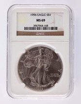 1996 Silver 1oz American Eagle $1 NGC Graded MS 69 - $141.56