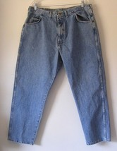 Men's Jeans Size 40 x 30 Wrangler Light Blue Wash Regular Fit - $11.99