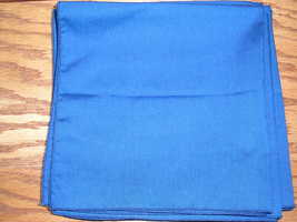 8  Blue Cloth Napkins  17 x 17 Inches - $8.00
