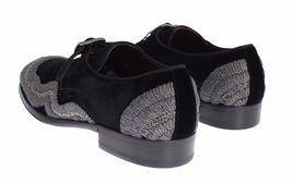 Black Men Sequined Dolce Gabbana 42 amp; Baroque 5 5 Velvet Gray 981 US Shoes EU 9 aWxfnUW