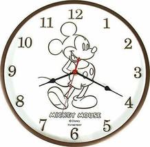 Disney Wall Clock Mickey Brown DN-5520140BR Limited Japan - $46.74