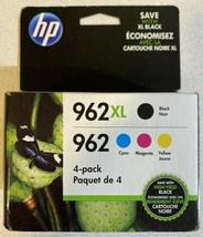 HP 962XL Black & HP 962 Cyan Magenta Yellow 3JB34AN - 3JA03AN & 3YP00AN Exp 2021 - $87.06