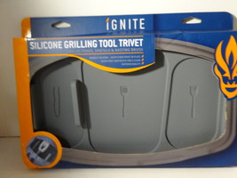 Ignite Silicone Grilling Tool Trivet (Gray) Dishwasher Safe  - $12.50