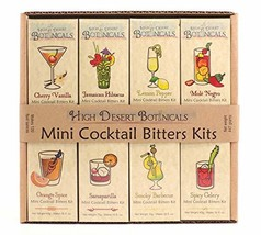 Pack of 8 Mini Bitters Kit by High Desert Botanicals | Cocktail Bitters ... - $102.03