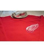 Detroit Red Wings Youth Sweat Shirt XL Turtleneck NHL Majestic 50/50 Vin... - $11.99