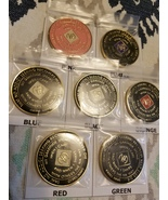 Narcotics Anonymous Tri Plated Medallion - 18 months - you choose the color - $22.00