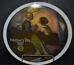 "Norman Rockwell ""Mothers Day 1981"" Decorative Collector Plate - Edwin M.... - $24.75"