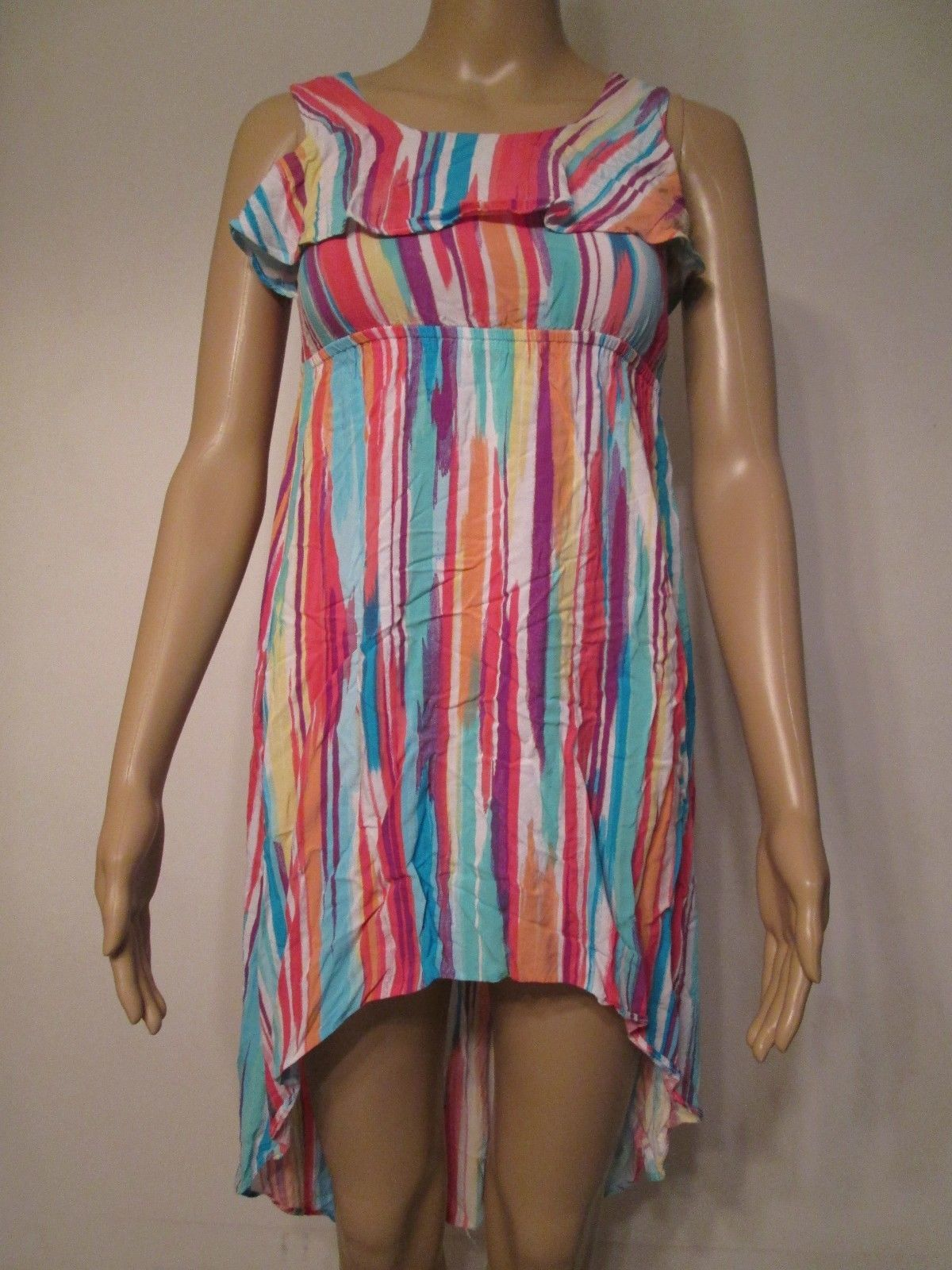Primary image for PLACE Girl's Dress Size Large 10/12 Multi Color Sleeveless Cute!!!! #B1