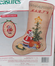 Needle Treasures Counted Cross Stitch Merry Christmouse Stocking - $30.00