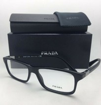 Nuovo Prada Occhiali da Sole Vpr 06s 1ab-1o1 56-16 140 Nero Lucido Frame W/