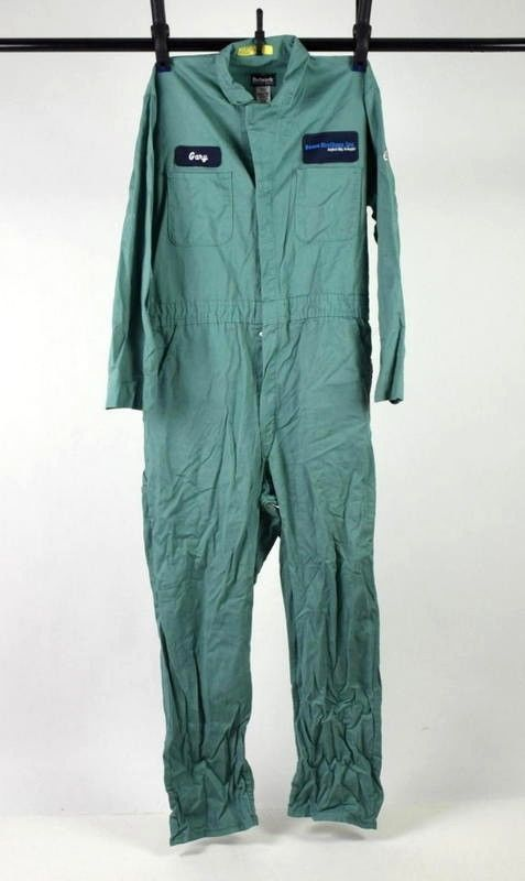 75952b06ca7 S l1600. S l1600. Bulwark Excel Flame Resistant Green Jumpsuit Coveralls  Work Mechanic Mens Large