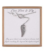 IEFLIFE Graduation Gifts for Her - Angel Wing Pendant Charm Infinity Nec... - $19.03