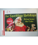 Coca-Cola Sparkling Holidays Removable Vinyl Decal Re-positionable Chris... - $9.90