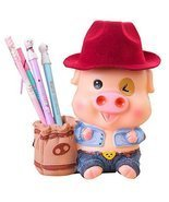 Creative Cute Resin Pencil Holder Ornaments Small Desktop Pen Case - £18.83 GBP