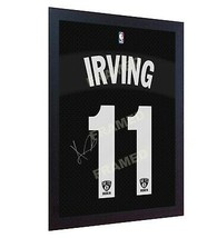 Kyrie Irving Brooklyn Nets signed NBA printed on 100% COTTON Canvas FRAMED - £16.48 GBP