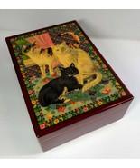 "San Francisco Music Box Trinket Jewelry Cats ""Sunshine on my Shoulders"" ... - $38.61"