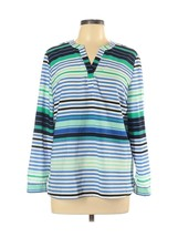 Talbots Top LP Large Petite Striped Shirt UU9 - $16.83