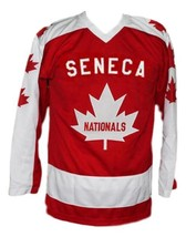 Custom Name # Seneca Nationals Hockey Jersey New Red Wayne Gretzky Any Size image 1