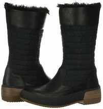 Merrell Womens Haven Pull On Polar Waterproof Black Leather Faux Fur Boots 9.5 - $89.99