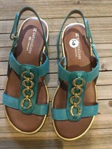 Naturalizer Harrison teal sandals size 6 Wide - $39.59