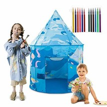 Anyshock Kids Play Tent, DIY Coloring Toys Outdoor Indoor Play House Ten... - $31.61