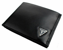 Guess Men's Leather Credit Card Id Wallet Passcase Bifold Black 31GU22X030 image 2