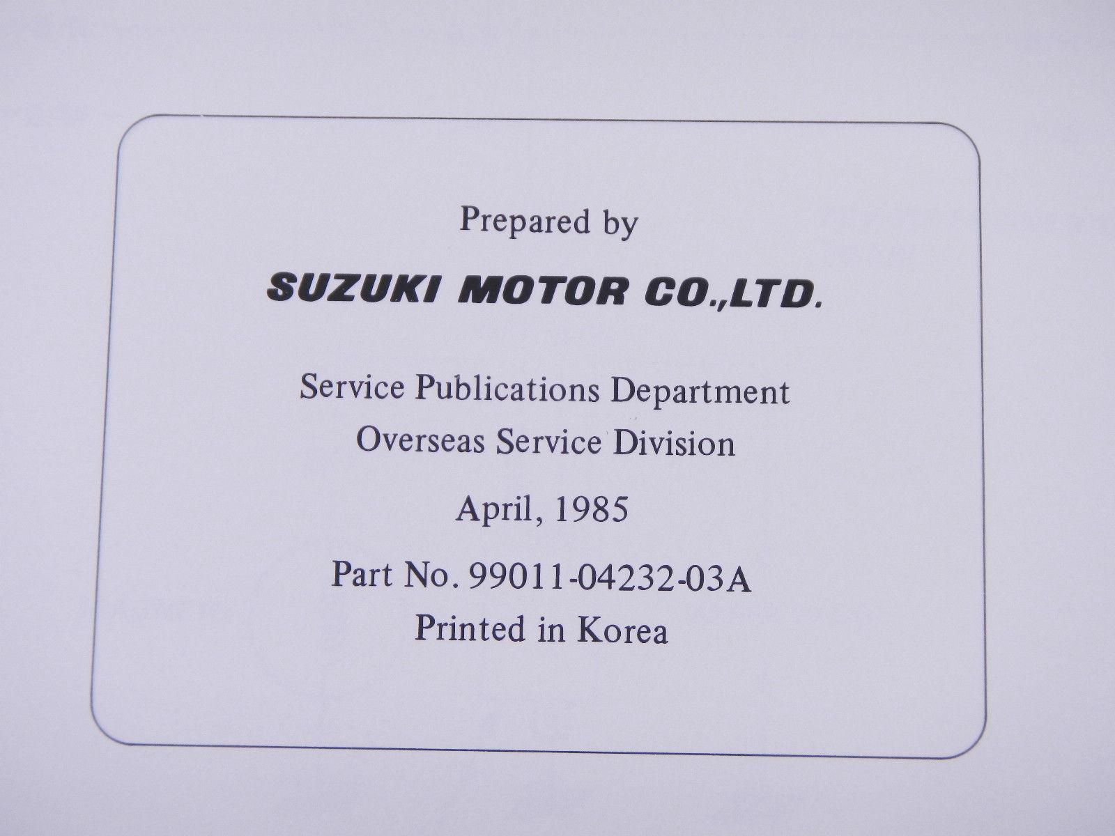 ... 86 SUZUKI LT50 OEM NOS ORIGINAL DRIVER'S OWNER'S MANUAL 1986 ...