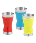 Double Bar Jigger, Ordinary Colorful Stainless Steel Jigger Cocktail - $14.39
