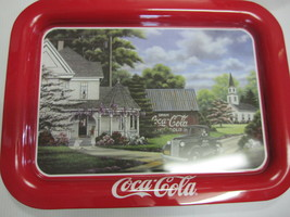 "Coca Cola Metal TV  Tray ""Peaceful Moments"" - New - - $15.59"