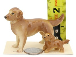 Hagen Renaker Miniature Dog Golden Retriever and Puppy Ceramic Figurine image 2