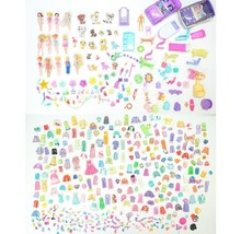Polly Pocket Huge Lot Fashion Accessories Clothes Car Animal Rubber Plas... - $99.83