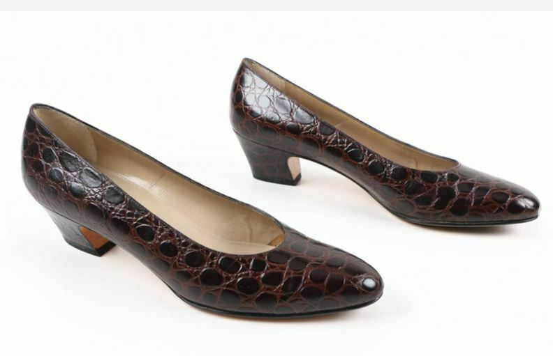 SALVATORE FERRAGAMO Women Shoes Polished Genuine Leather  8 1/2 AA 17666-149