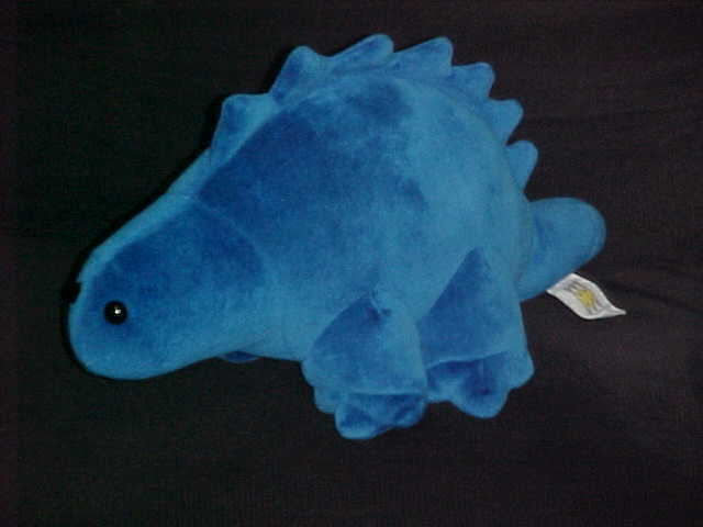 "Primary image for 15"" Blue Stegosaurus Dinosaur Plush Stuffed Toy By Manhattan Toy Company 1997"