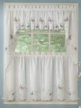 Monarch Embroidered Butterfly Curtain and Swag Set  - $24.74