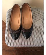 EUC CHANEL Brown & Black Ballet Flats SZ 36.5 Made in Italy - $272.25