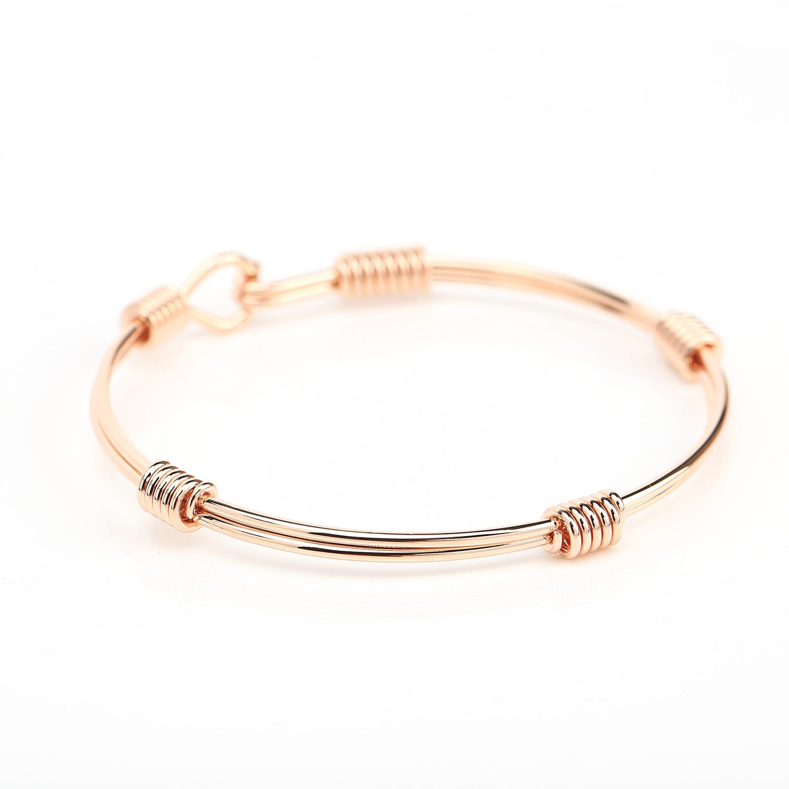 UE- Stylish Rose Tone Designer Bangle Bracelet With Contemporary Design