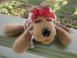 Rhonda Reindeer Plush Bean Bag Christmas Toy Vintage 1984 Hallmark Burge... - $5.70