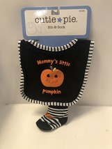 "Halloween Baby Bib & Socks. 3-6 Months, By Cutie Pie, ""Mommy's Little Pu... - $9.95"